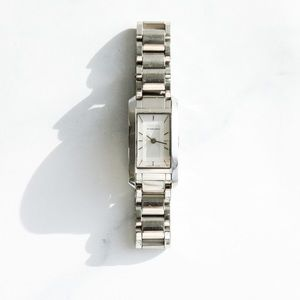 Burberry Stainless Steel Rectangle Watch